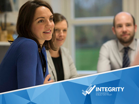 Integrity – Our business is built on trust