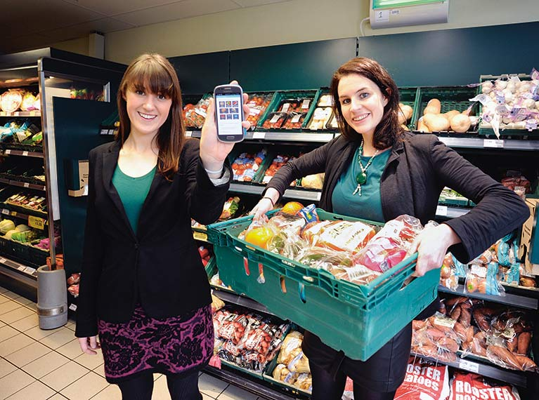FoodCloud founders: Iseult Ward and Aoibheann O'Brien